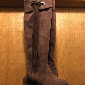 *REMOVING* Brown Tall Boots w/Fringe